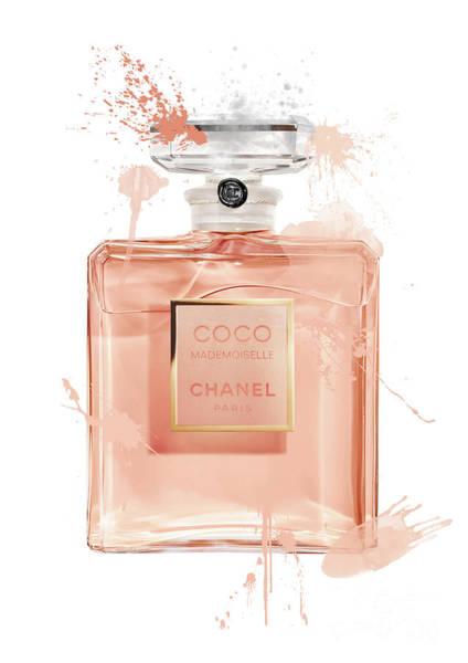 Mademoiselle Digital Art - Coco Mademoiselle Chanel Perfume - 1 by Prar Kulasekara
