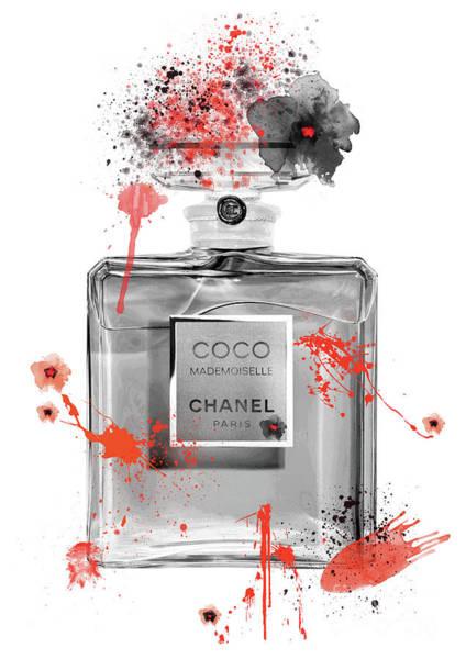 Mademoiselle Digital Art - Coco Mademoiselle Chanel Perfume - 13 by Prar Kulasekara