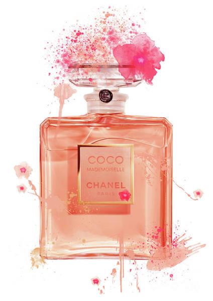 Mademoiselle Digital Art - Coco Mademoiselle Chanel Perfume - 14 by Prar Kulasekara