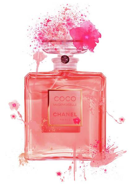 Mademoiselle Digital Art - Coco Mademoiselle Chanel Perfume - 15 by Prar Kulasekara