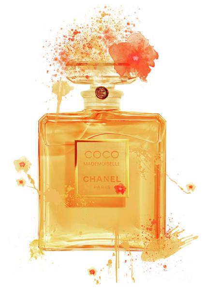 Mademoiselle Digital Art - Coco Mademoiselle Chanel Perfume - 16 by Prar Kulasekara
