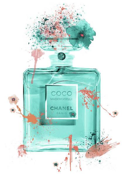 Mademoiselle Digital Art - Coco Mademoiselle Chanel Perfume - 19 by Prar Kulasekara
