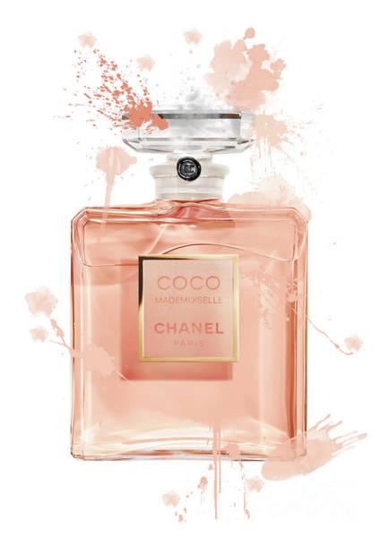 Mademoiselle Digital Art - Coco Mademoiselle Chanel Perfume - 2 by Prar Kulasekara