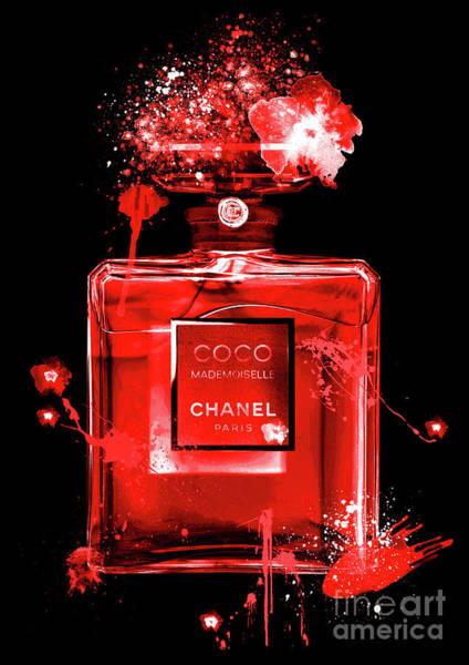 Mademoiselle Digital Art - Coco Mademoiselle Chanel Perfume - 20 by Prar Kulasekara