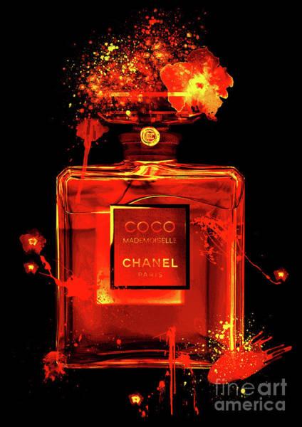 Mademoiselle Digital Art - Coco Mademoiselle Chanel Perfume - 22 by Prar Kulasekara