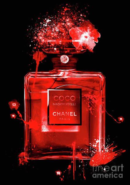 Mademoiselle Digital Art - Coco Mademoiselle Chanel Perfume - 23 by Prar Kulasekara