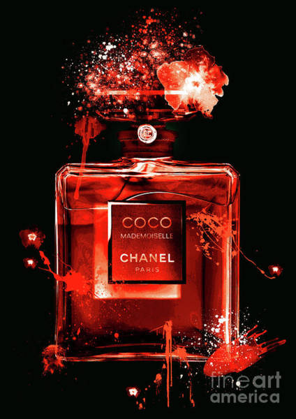 Mademoiselle Digital Art - Coco Mademoiselle Chanel Perfume - 24 by Prar Kulasekara