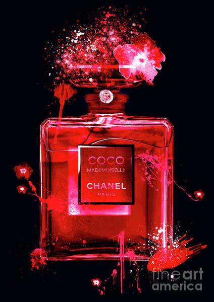 Mademoiselle Digital Art - Coco Mademoiselle Chanel Perfume - 25 by Prar Kulasekara