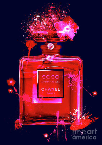 Mademoiselle Digital Art - Coco Mademoiselle Chanel Perfume - 26 by Prar Kulasekara