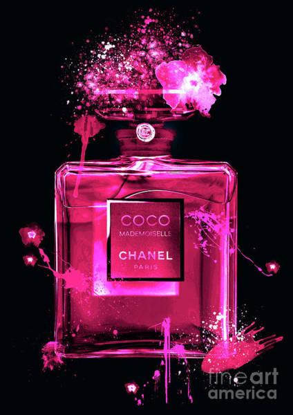 Mademoiselle Digital Art - Coco Mademoiselle Chanel Perfume - 27 by Prar Kulasekara