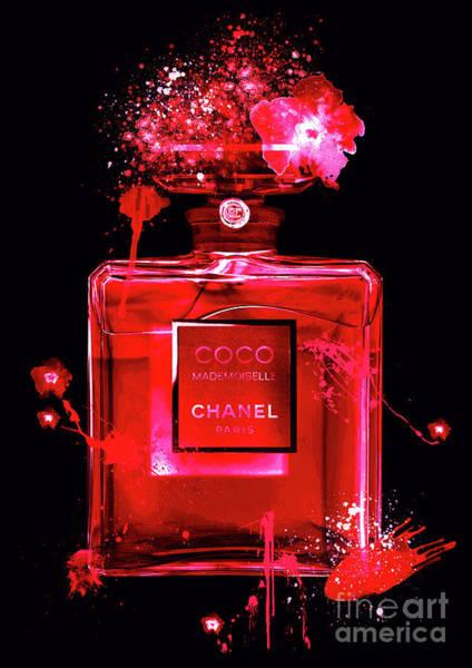 Mademoiselle Digital Art - Coco Mademoiselle Chanel Perfume - 28 by Prar Kulasekara
