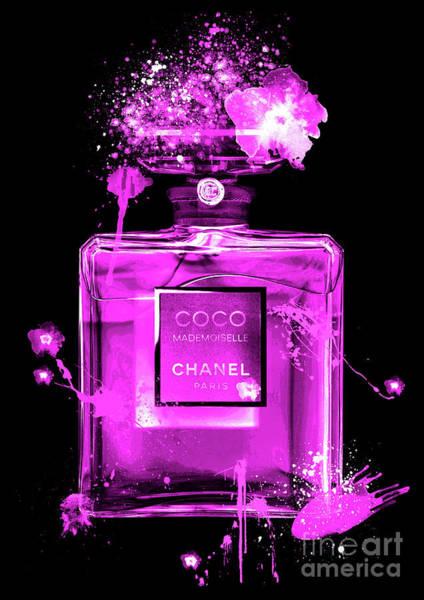 Mademoiselle Digital Art - Coco Mademoiselle Chanel Perfume - 29 by Prar Kulasekara