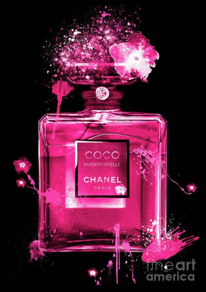 Mademoiselle Digital Art - Coco Mademoiselle Chanel Perfume - 30 by Prar Kulasekara