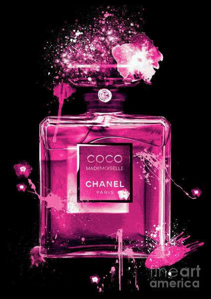 Mademoiselle Digital Art - Coco Mademoiselle Chanel Perfume - 32 by Prar Kulasekara