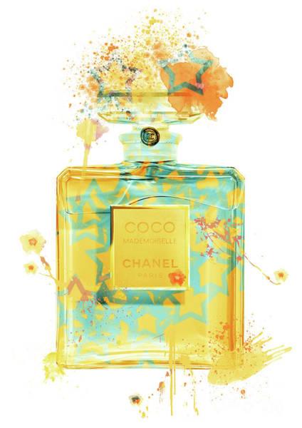 Mademoiselle Digital Art - Coco Mademoiselle Chanel Perfume - 36 by Prar Kulasekara