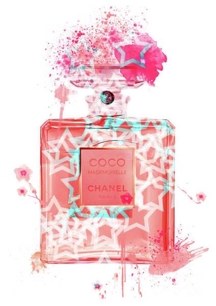 Mademoiselle Digital Art - Coco Mademoiselle Chanel Perfume - 37 by Prar Kulasekara