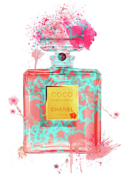Mademoiselle Digital Art - Coco Mademoiselle Chanel Perfume - 39 by Prar Kulasekara