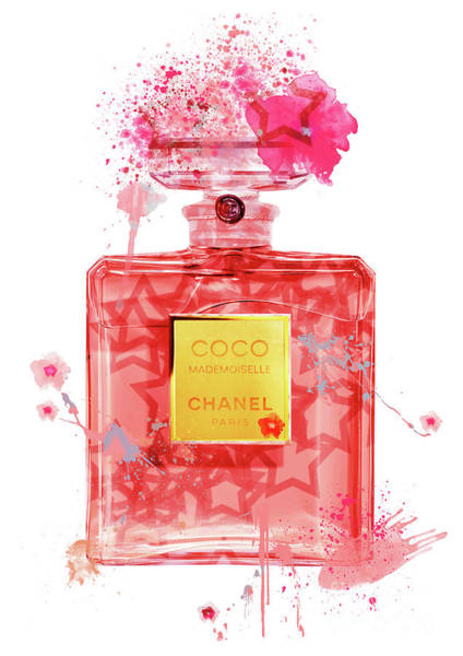 Mademoiselle Digital Art - Coco Mademoiselle Chanel Perfume - 40 by Prar Kulasekara