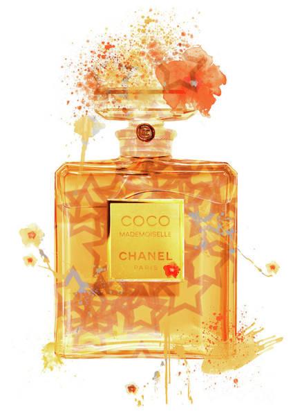 Mademoiselle Digital Art - Coco Mademoiselle Chanel Perfume - 42 by Prar Kulasekara
