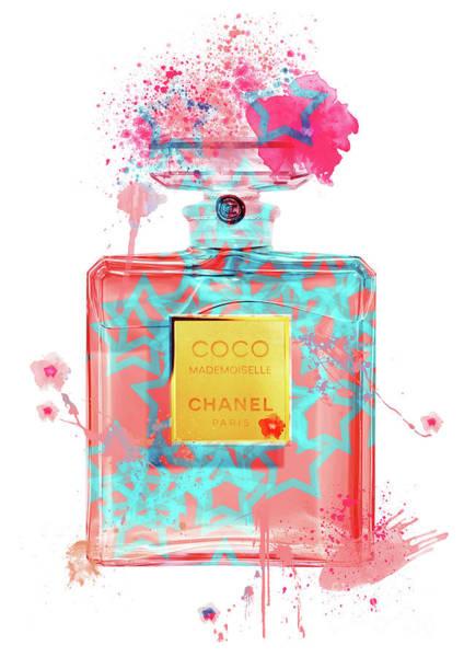 Mademoiselle Digital Art - Coco Mademoiselle Chanel Perfume - 43 by Prar Kulasekara