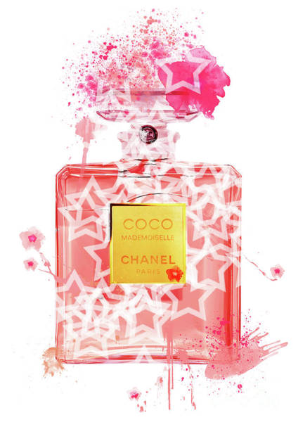 Mademoiselle Digital Art - Coco Mademoiselle Chanel Perfume - 44 by Prar Kulasekara