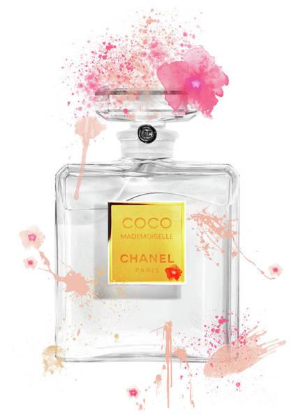 Mademoiselle Digital Art - Coco Mademoiselle Chanel Perfume - 45 by Prar Kulasekara