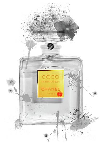 Mademoiselle Digital Art - Coco Mademoiselle Chanel Perfume - 46 by Prar Kulasekara