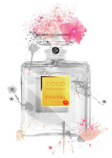 Mademoiselle Digital Art - Coco Mademoiselle Chanel Perfume - 47 by Prar Kulasekara
