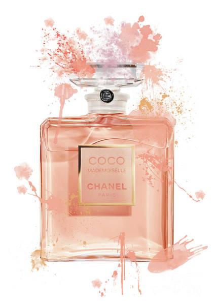 Mademoiselle Digital Art - Coco Mademoiselle Chanel Perfume - 5 by Prar Kulasekara