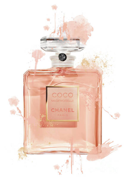 Mademoiselle Digital Art - Coco Mademoiselle Chanel Perfume - 6 by Prar Kulasekara