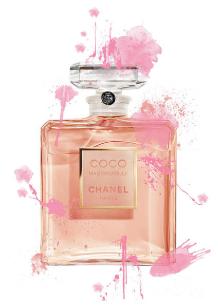 Mademoiselle Digital Art - Coco Mademoiselle Chanel Perfume - 8 by Prar Kulasekara