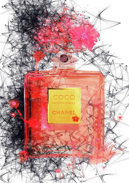 Mademoiselle Digital Art - Coco Mademoiselle Chanel Perfume - 82 by Prar Kulasekara