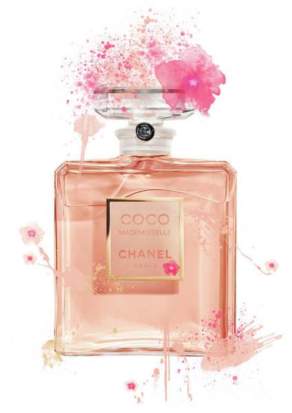 Mademoiselle Digital Art - Coco Mademoiselle Chanel Perfume - 9 by Prar Kulasekara
