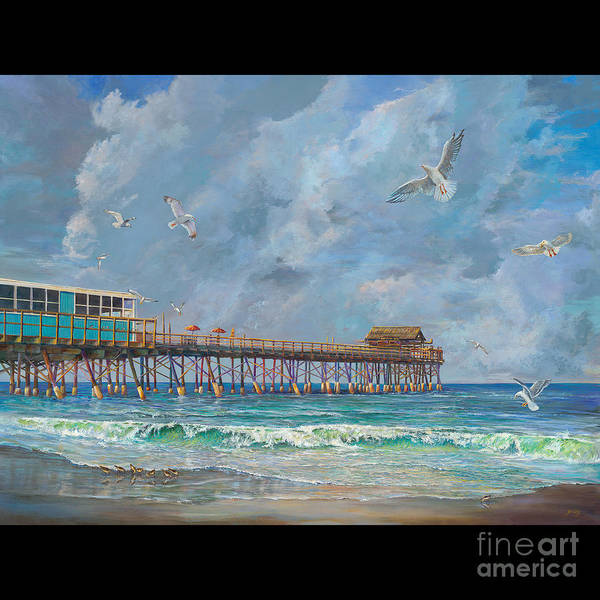 Wall Art - Painting - Cocoa Beach Pier by AnnaJo Vahle