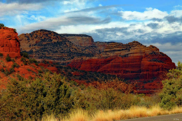 Canyon Mixed Media - Coconino Red Rock by G Berry