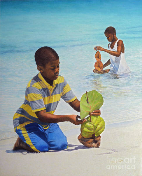 Painting - Coconut Boats by Nicole Minnis