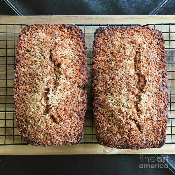 Photograph - Coconut Crusted Banana Bread by Amy E Fraser