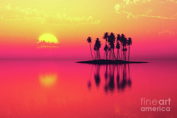 Wall Art - Photograph - Coconut Island Purple by Aleksey Tugolukov