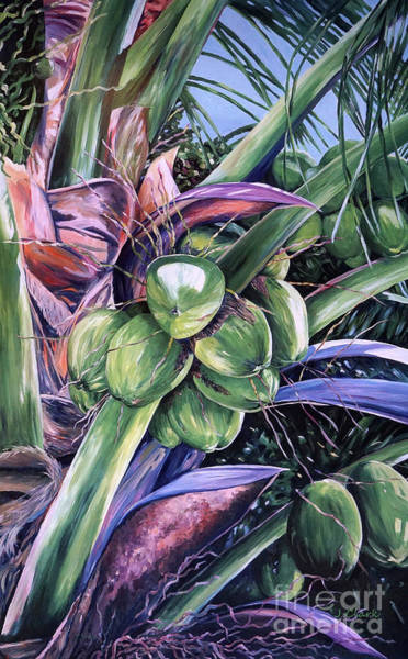 Savannah Painting - Coconuts   14x26 by John Clark