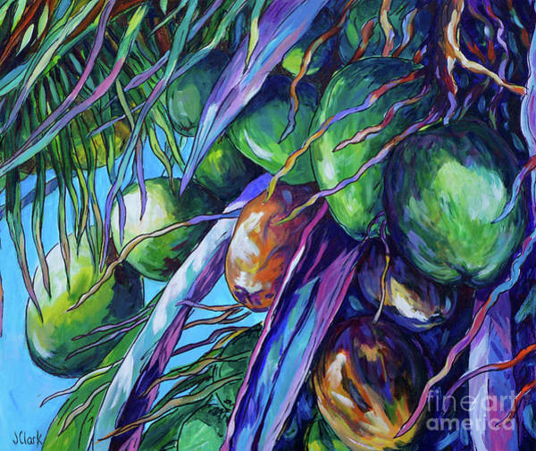 Wall Art - Painting - Coconuts And Spathes by John Clark