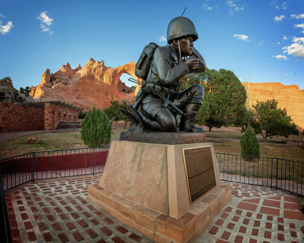 Wall Art - Photograph - Code Talkers Memorial by Ricky Barnard