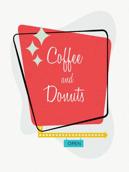 Doughnut Wall Art - Digital Art - Coffee And Donuts- Art By Linda Woods by Linda Woods