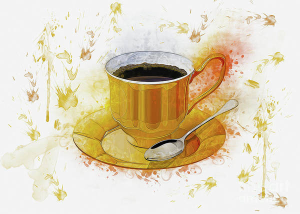 Digital Art - Coffee Art by Ian Mitchell