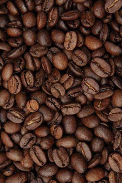 Full Frame Photograph - Coffee Bean Background Full Frame by Pejft