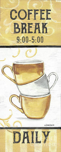 Milk Painting - Coffee Break 2 by Debbie DeWitt