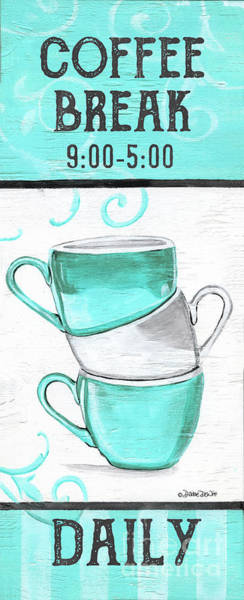 Wall Art - Painting - Coffee Break by Debbie DeWitt