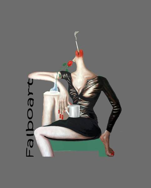 T-shirts Painting - Coffee Break T-shirt by Anthony Falbo