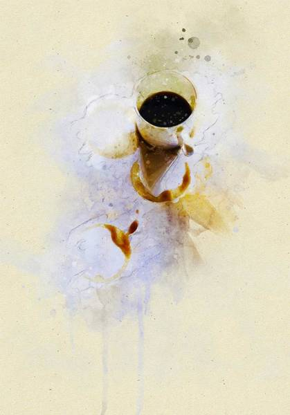 Mocha Painting - Coffee Cup by ArtMarketJapan