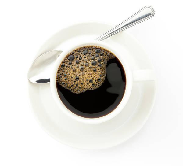 Mug Photograph - Coffee Cup With A Silver Tea Spoon On by Carlosgaw