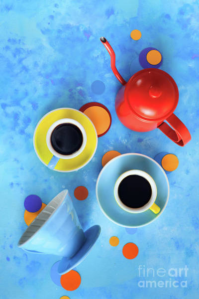 Wall Art - Photograph - Coffee Cups With Pour Over And A Kettle by Dina Belenko Photography